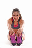 Fitness stretching woman Stock Images