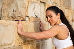 Fitness strong woman working out Royalty Free Stock Images