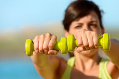 Fitness on summer concept Royalty Free Stock Photography