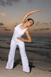 Fitness at sunset Royalty Free Stock Image
