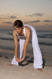 Fitness at sunset Stock Image