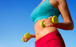 Fitness sweaty body workout Stock Images