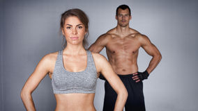 Fitness Team looking at camera Stock Photos