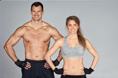 Fitness Team smiling at camera Royalty Free Stock Photos