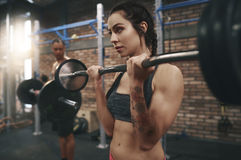 Fitness with team Royalty Free Stock Images