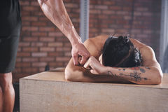 Fitness with team Royalty Free Stock Photography