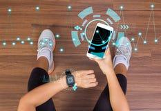 Fitness tech healthcare wellness innovation concept Royalty Free Stock Photos