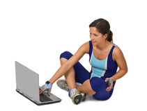 Fitness and technology Royalty Free Stock Images