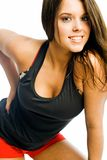 Fitness teen. Seventeen year old cutie wearing exercise outfit Royalty Free Stock Photos