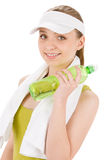 Fitness teenager woman in sportive Stock Images