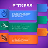 Fitness-template-brochure-page-purple-background Stock Photography