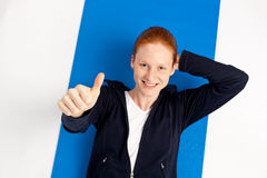 Fitness - Thumbs Up Stock Photo