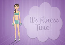 Fitness time! Stock Images