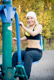 Fitness Time At Outdoors Stock Photography
