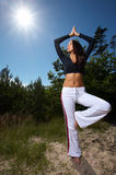 Fitness Time at Outdoors Royalty Free Stock Photography