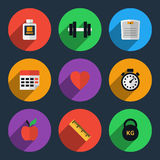 Fitness tracker flat icons Stock Images