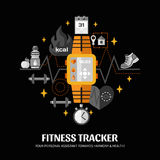 Fitness Tracker Illustration Stock Photography