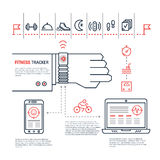 Fitness tracker infographic Stock Images