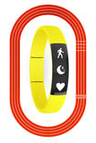 Fitness Tracker and Running Track Stock Image
