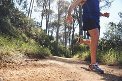 Fitness trail man Royalty Free Stock Images