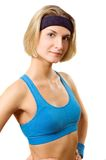 Fitness trainer. Picture of a young attractive fitness trainer Stock Image