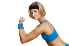 Fitness trainer. Picture of a young attractive fitness trainer Royalty Free Stock Photography