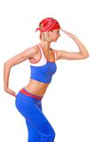 Fitness trainer. Picture of a young attractive fitness trainer Stock Photo