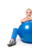 Fitness trainer with a ball Stock Photos