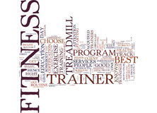 Fitness Trainer Boredom Busters Word Cloud Concept Stock Photo
