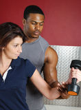Fitness trainer couple Stock Photo