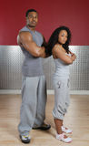 Fitness trainer couple stock photography
