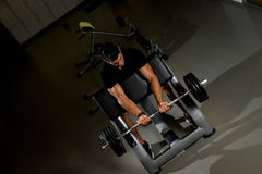 Fitness Trainer Doing Heavy Barbell Exercise Royalty Free Stock Photography