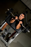 Fitness Trainer Doing Heavy Barbell Exercise Royalty Free Stock Image