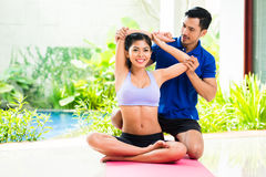Fitness trainer exercising sport with woman Royalty Free Stock Photography
