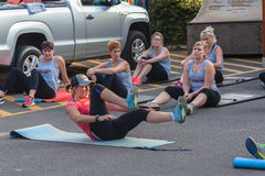 Fitness Trainer Group Class Instruction  Stock Photos