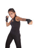 Fitness trainer with one hand stretch Stock Photo