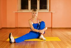 Fitness trainer relaxing Royalty Free Stock Images