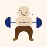 Fitness trainer theme elements. Vector illustration file Stock Photos