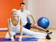 Fitness training Stock Image