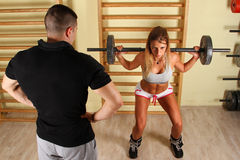 Fitness training Royalty Free Stock Photos