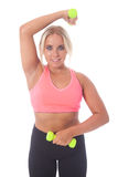 Fitness training with barbells Stock Photo