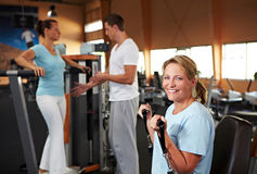 Fitness training in gym Royalty Free Stock Photography