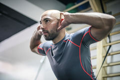 Fitness training in the gym. Royalty Free Stock Photography
