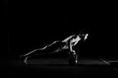 Fitness training. Man doing push ups exercise. Royalty Free Stock Image