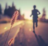 Fitness Training For Marathon At Sunset Royalty Free Stock Photo