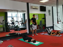 Fitness training stock image