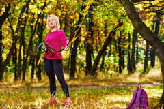 Fitness training in park Stock Image