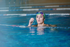 Fitness training in the pool Stock Photos