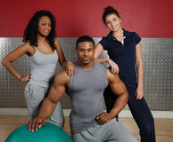 Fitness training team. This is an image of a fitness gym team Royalty Free Stock Image