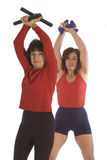 Fitness training for women Stock Photo